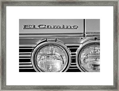 1967 Chevrolet El Camino Pickup Truck Headlight Emblem Framed Print by Jill Reger