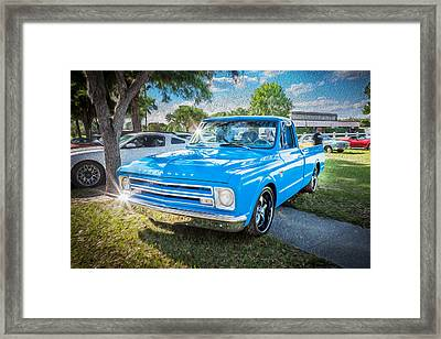 1967 Chevy Silverado Pick Up Truck Painted  Framed Print