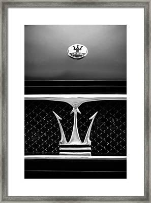 1967 Maserati Ghibli Grille Emblem Framed Print by Jill Reger