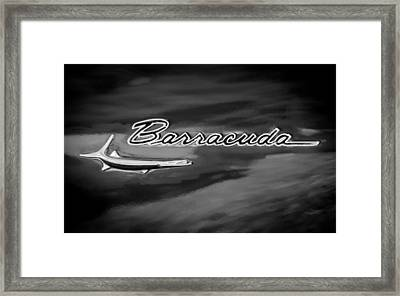 1967 Plymouth Barracuda Emblem Framed Print