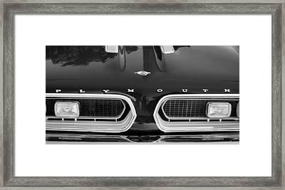 1967 Plymouth Barracuda Grille Emblem Framed Print