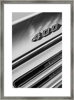 1967 Pontiac Firebird 400 Emblem Framed Print
