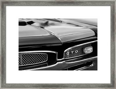 1967 Pontiac Gto Grille Emblem Framed Print by Jill Reger