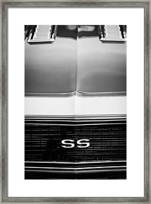 1968 Chevrolet Camaro Ss Grille Emblem Framed Print by Jill Reger