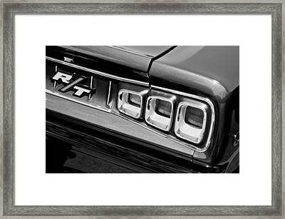 1968 Dodge Coronet Rt Hemi Convertible Taillight Emblem Framed Print