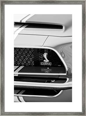1968 Ford Mustang 427 Ci Fastback Grille Emblem Framed Print