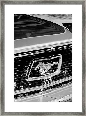 1968 Ford Mustang Cobra Gt 350 Grille Emblem Framed Print