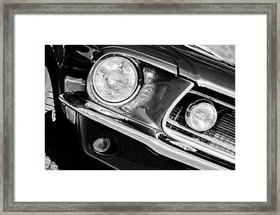 1968 Ford Mustang Cobra Gt 350 Head Light Framed Print