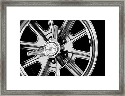 1968 Ford Mustang Fastback 427 Shelby Cobra Wheel Framed Print by Jill Reger