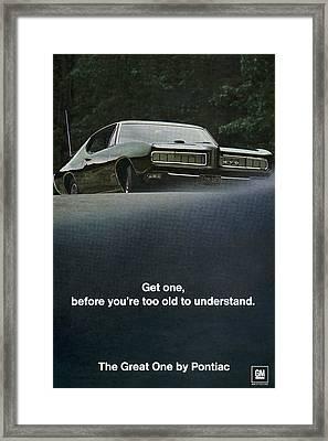 1968 Pontiac Gto Framed Print by Digital Repro Depot