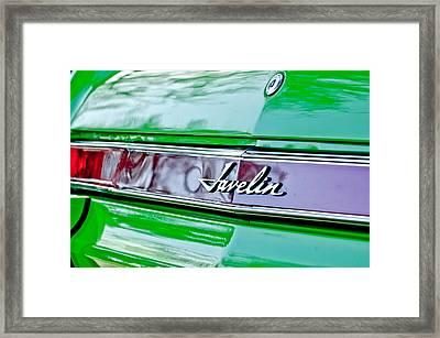 1969 Amc Javelin Sst Taillight Emblem Framed Print