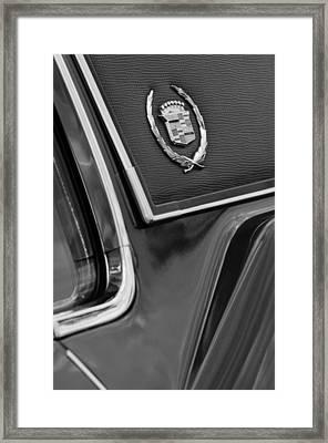1969 Cadillac Eldorado Emblem Framed Print by Jill Reger