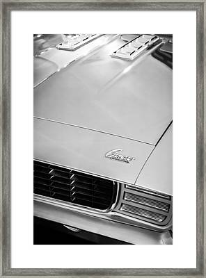 1969 Chevrolet Camaro 396 Rs Ss L89 Hood Emblem Framed Print