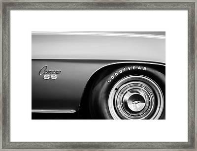 1969 Chevrolet Camaro 396 Rs Ss L89 Side Emblem Framed Print