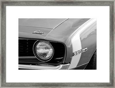 1969 Chevrolet Camaro Ss Headlight Emblems Framed Print by Jill Reger
