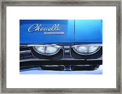 1969 Chevrolet Chevelle Emblem Framed Print by Jill Reger
