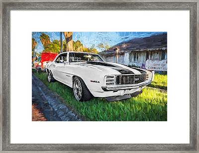 1969 Chevy Camaro Rs Painted  Framed Print
