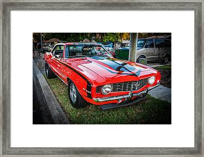 1969 Chevy Camaro Ss 396 Painted  Framed Print