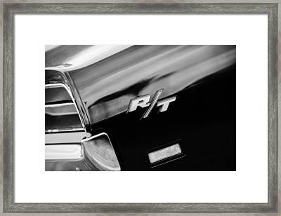 1969 Dodge Charger Rt Rear Emblem Framed Print