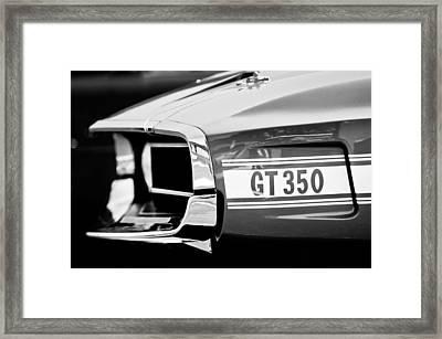 1969 Ford Mustang Shelby Gt350 Grille Emblem Framed Print by Jill Reger