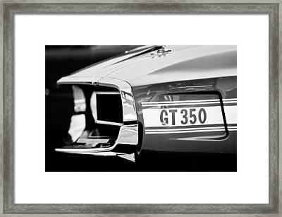 1969 Ford Mustang Shelby Gt350 Grille Emblem Framed Print