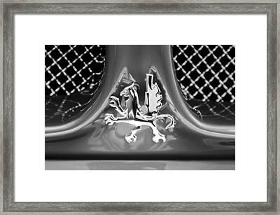1969 Iso Grifo Grille Emblem Framed Print by Jill Reger