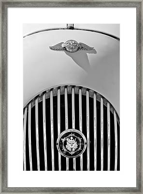 1969 Morgan Roadster Grille Emblems Framed Print by Jill Reger