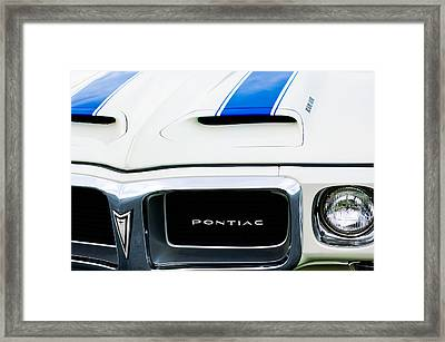 1969 Pontiac Trans Am Grille Emblem Framed Print by Jill Reger