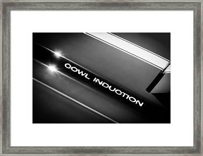 1970 Chevrolet Chevelle 454 Cowl Induction Hood Emblem Framed Print