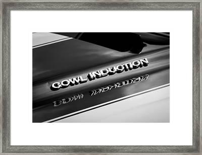 1970 Chevrolet Chevelle Ss Cowl Induction Emblem Framed Print