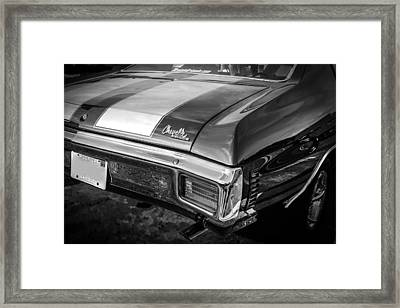 1970 Chevy Chevelle 454 Ss Bw   Framed Print