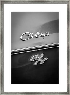 1970 Dodge Challenger Rt Convertible Emblem Framed Print