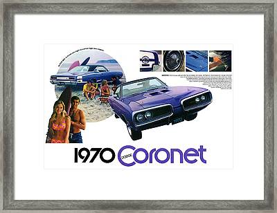 1970 Dodge Coronet Super Bee Framed Print by Digital Repro Depot