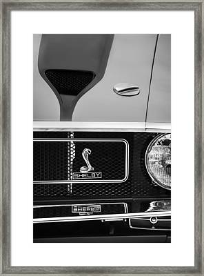 1970 Ford Mustang Gt350 Replica Grille Emblem Framed Print by Jill Reger