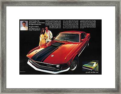 1970 Ford Mustang Mach 1 Framed Print by Digital Repro Depot