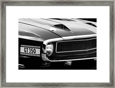 1970 Ford Shelby Gt350 Fastback Emblem Framed Print by Jill Reger
