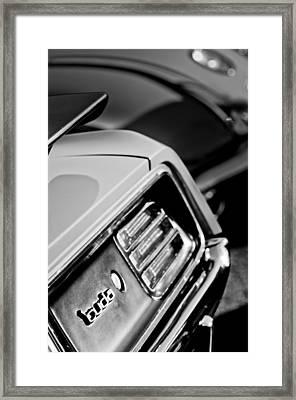 1970 Pontiac Barracuda Cuda Taillight Emblem Framed Print
