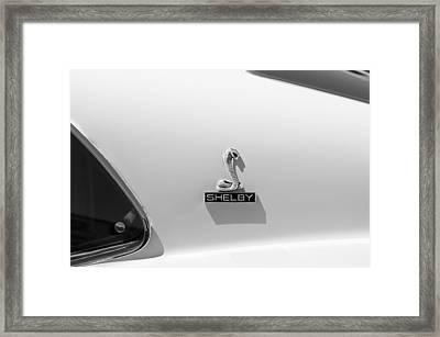 1970 Shelby Cobra Gt350 Fastback Emblem Framed Print