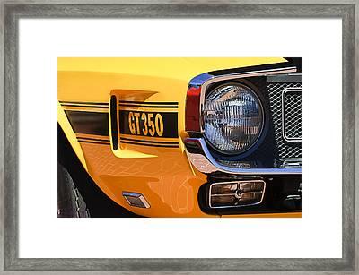 1970 Shelby Gt 350 Fastback Side Emblem Framed Print