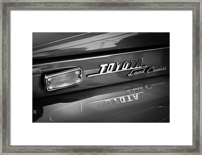 1970 Toyota Land Cruiser Fj40 Hardtop Emblem Framed Print by Jill Reger
