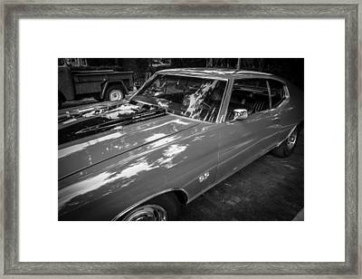 1971 Chevy Chevelle 454 Ss Painted Bw    Framed Print