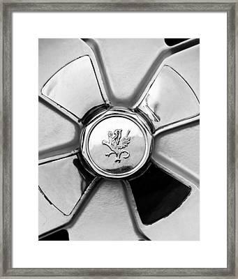 1971 Iso Fidia Wheel Emblem Framed Print by Jill Reger