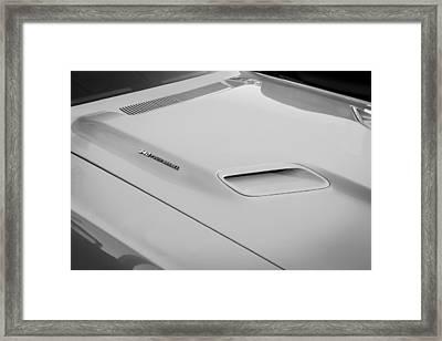 1972 Dodge 340 Challenger Painted Bw  Framed Print