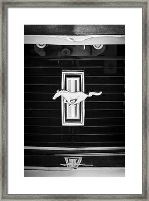 1972 Ford Mustang Boss 302 Grille Emblem Framed Print by Jill Reger