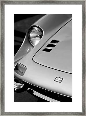 1973 Ferrari 246 Dino Gts Hood Emblem Framed Print