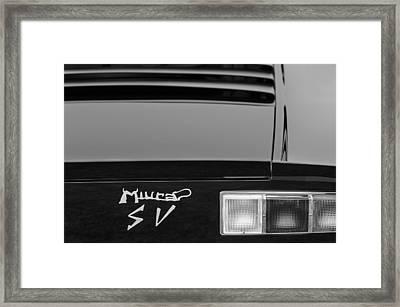 1973 Lamborghini Miura Sv Berlinetta Taillight Emblem Framed Print by Jill Reger