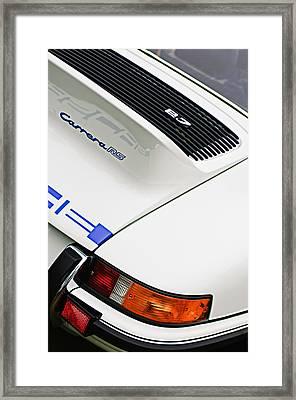 1973 Porsche 911 Carrera Rs Coupe Taillight Emblem Framed Print by Jill Reger