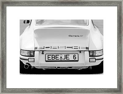 1973 Porsche 911 Rs Lightweight Rear Emblems Framed Print by Jill Reger