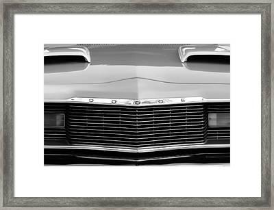 1975 Dodge Dart Swinger Grille Framed Print