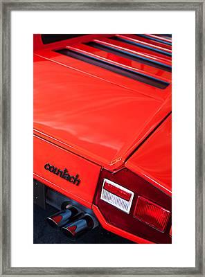 1975 Lamborghini Countach Lp400 'periscopica' Rear Emblem Framed Print